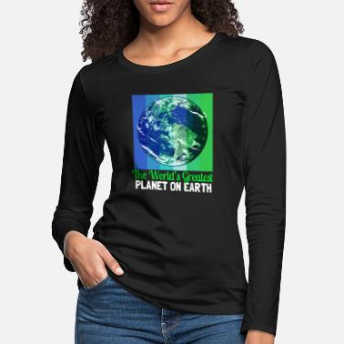 Sustainability Earth Day Climate Change Recycling Ecology Planet - Women's Premium Longsleeve Shirt