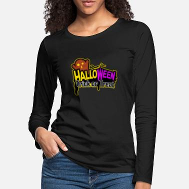 Midnight Halloween Ghost Party - Halloween Trick or Treat - Women's Premium Longsleeve Shirt