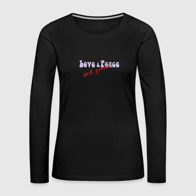 Love & Peace and Ponies - Women's Premium Long Sleeve T-Shirt