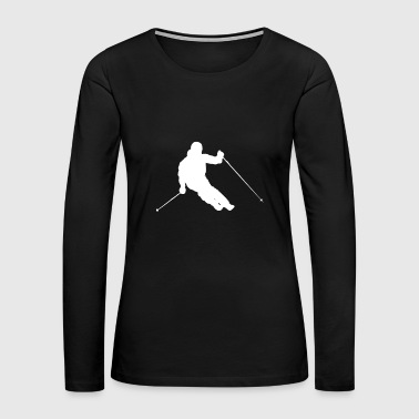 White skier - Women's Premium Long Sleeve T-Shirt