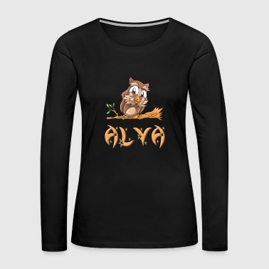 Alva Owl - Women's Premium Long Sleeve T-Shirt