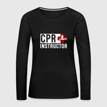 cpr instructor mono in middle - Women's Premium Long Sleeve T-Shirt