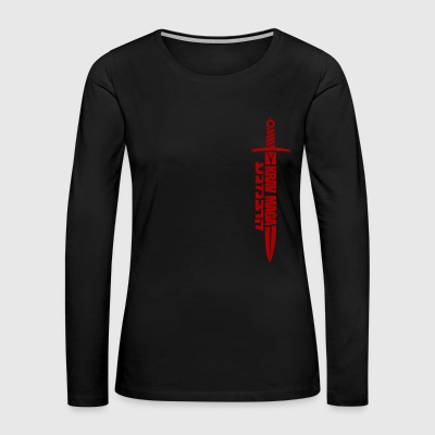 Krav maga dirk Israel Martial arts military - Women's Premium Long Sleeve T-Shirt