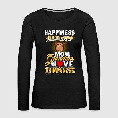 Chimpanzee Shirt - Chimpanzee Mom Shirt - Women's Premium Long Sleeve T-Shirt