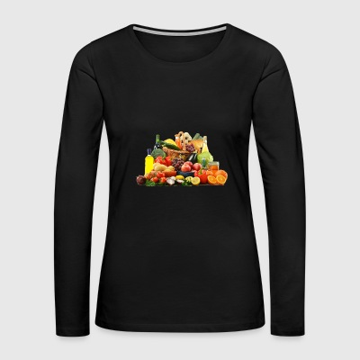 orange banane apfel tomate gurke ananas - Women's Premium Long Sleeve T-Shirt