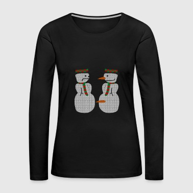 Ugly Christmas Sweater Xmas - Women's Premium Long Sleeve T-Shirt