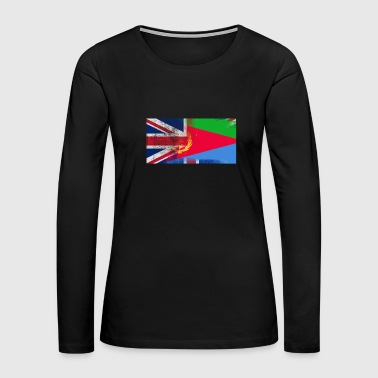 British Eritrean Half Eritrea Half UK Flag - Women's Premium Long Sleeve T-Shirt