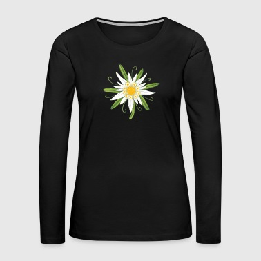 Edelweiss, big flower for the Oktoberfest. - Women's Premium Long Sleeve T-Shirt