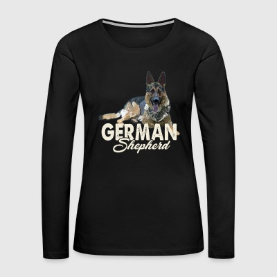 German Shepherd Shirt - German Shepherd Love Shirt - Women's Premium Long Sleeve T-Shirt