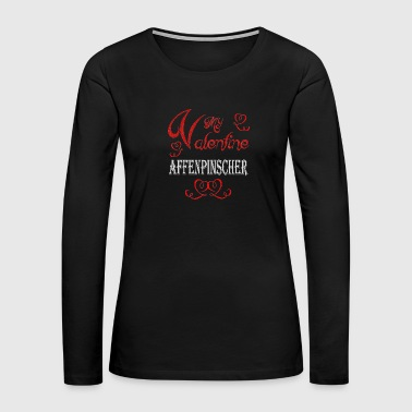 A romantic A romantic Valentine with my Affenpinsc - Women's Premium Long Sleeve T-Shirt