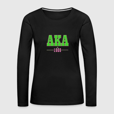 AKA Traditional 2 - Women's Premium Long Sleeve T-Shirt