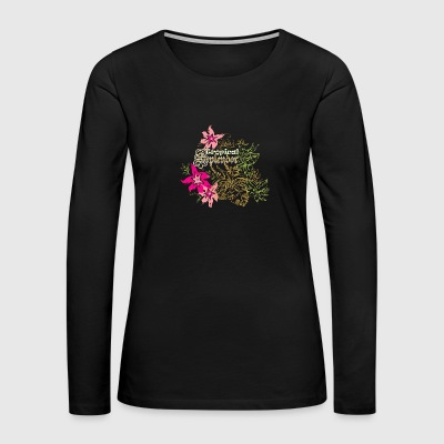 Tropical flowers - Women's Premium Long Sleeve T-Shirt