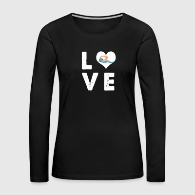 Love swimming - Women's Premium Long Sleeve T-Shirt