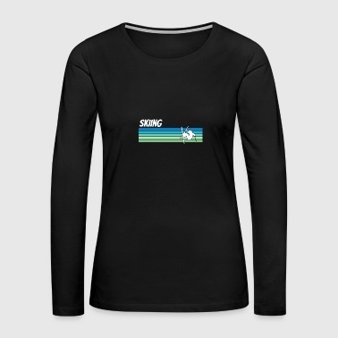 Retro Skiing - Women's Premium Long Sleeve T-Shirt