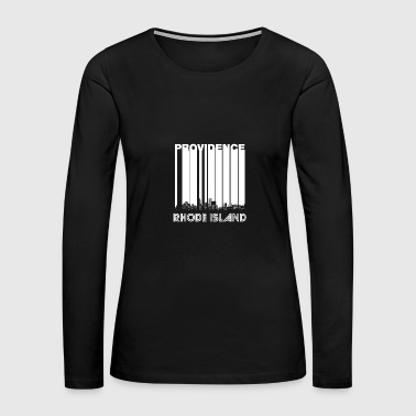 Retro Providence Rhode Island Skyline - Women's Premium Long Sleeve T-Shirt