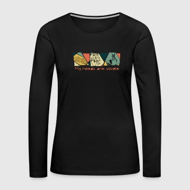 Books, Horse, Coffee - My Needs Are Simple - Women's Premium Long Sleeve T-Shirt