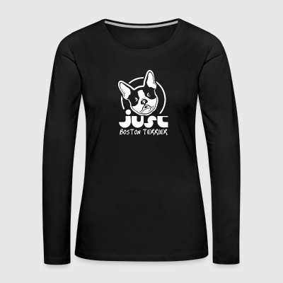Just Boston Terrier - Women's Premium Long Sleeve T-Shirt