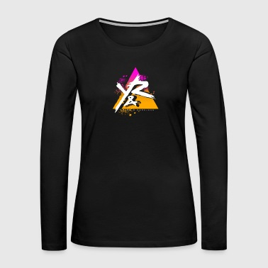 Young Reckless Pyramid Gradient Abstract - Women's Premium Long Sleeve T-Shirt