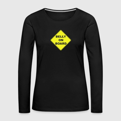 Belly On Board Beer - Women's Premium Long Sleeve T-Shirt