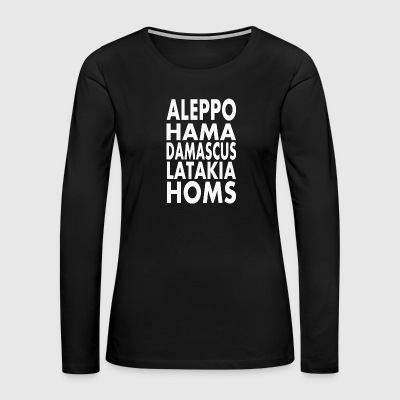 Towns Syria - Women's Premium Long Sleeve T-Shirt