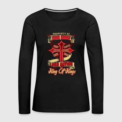 Love The Property Of Jesus Christ Shirt - Women's Premium Long Sleeve T-Shirt