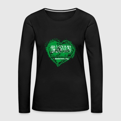 HOME ROOTS COUNTRY GIFT LOVE Saudi Arabia - Women's Premium Long Sleeve T-Shirt