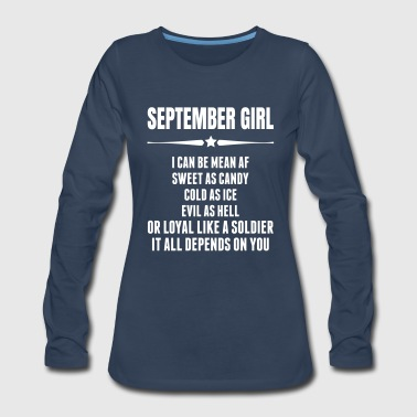 Super September Girl - Women's Premium Long Sleeve T-Shirt