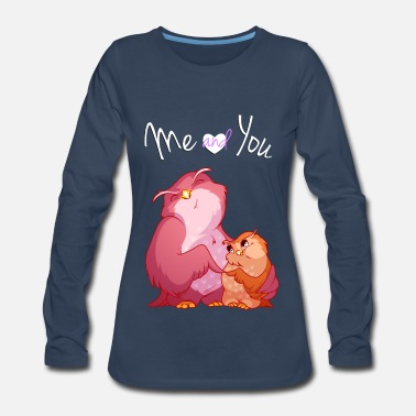 Gas Two cute owl - Women's Premium Long Sleeve T-Shirt