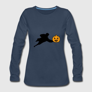 Halloween Soccer Player Goalkeeper - Women's Premium Long Sleeve T-Shirt