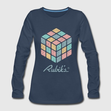 Rubiks Cube Rubik's Cube Pastell-Colored Print - Women's Premium Long Sleeve T-Shirt