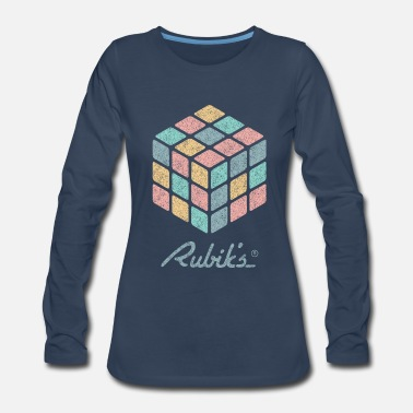 Cube Rubik's Cube Pastell-Colored Print - Women's Premium Long Sleeve T-Shirt