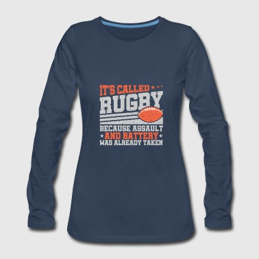 Rugby Funny Rugby Design - Women's Premium Long Sleeve T-Shirt
