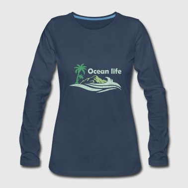 Oceanlife surf captain boat beach wind - Women's Premium Long Sleeve T-Shirt