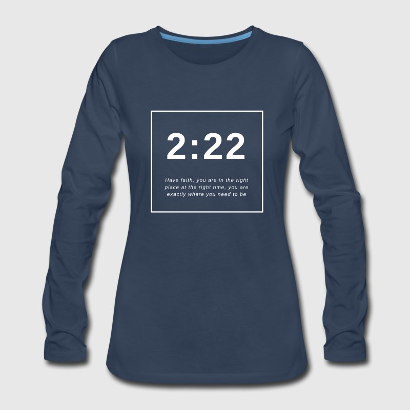 Angel Number 2:22 - Women's Premium Long Sleeve T-Shirt