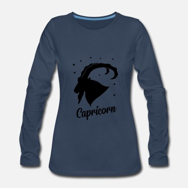 David capricorn star sign - Women's Premium Long Sleeve T-Shirt