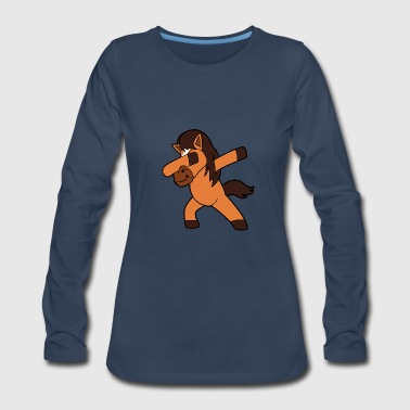 Dabbing Dancing Horse - Women's Premium Long Sleeve T-Shirt