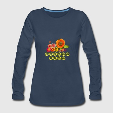 summertime - beautiful flowers - Women's Premium Long Sleeve T-Shirt