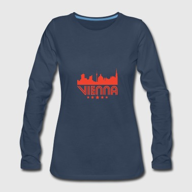 Retro Vienna Skyline - Women's Premium Long Sleeve T-Shirt