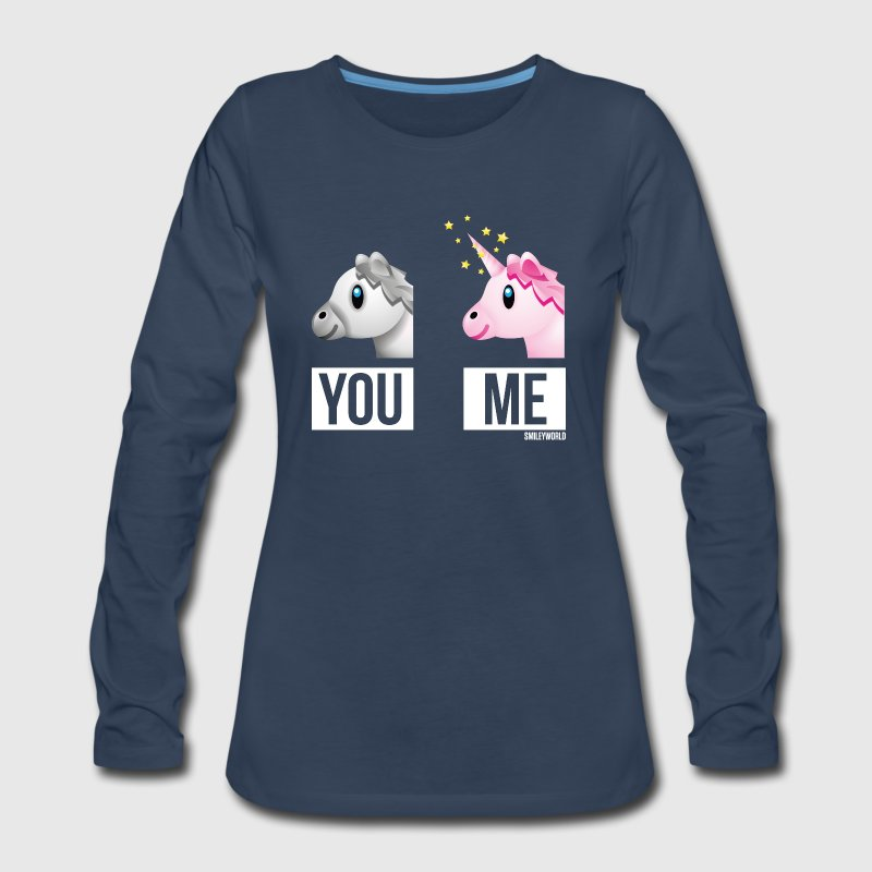 SmileyWorld You Me Horse Vs Unicorn - Women's Premium Long Sleeve T-Shirt