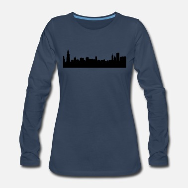 Chicago chicago skyline - Women's Premium Long Sleeve T-Shirt