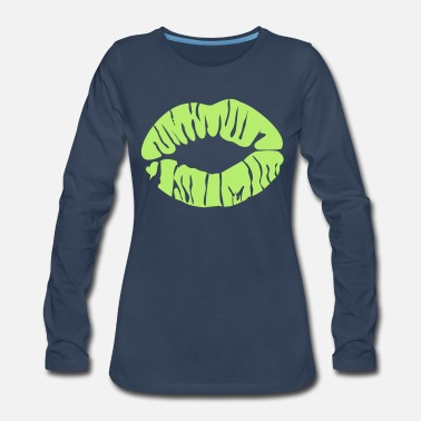 Kissing-lips kissing lips - Women's Premium Long Sleeve T-Shirt
