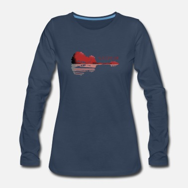 Houston Houston Guitar Lake - Women's Premium Long Sleeve T-Shirt