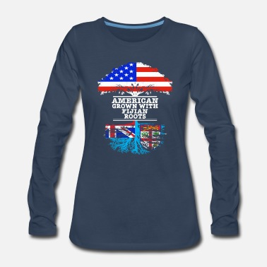 Dna American Grown With Fijian Roots - Women's Premium Longsleeve Shirt