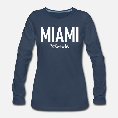 Spring Break Miami - Florida - Art Deko - USA - United States - Women's Premium Longsleeve Shirt
