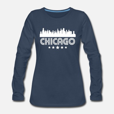 Chicago Retro Chicago Skyline - Women's Premium Long Sleeve T-Shirt