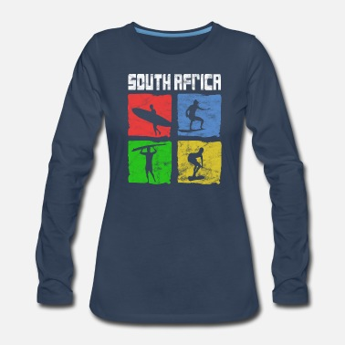 South Africa South Africa Southafrica Surfers Surf Art Design - Women's Premium Long Sleeve T-Shirt