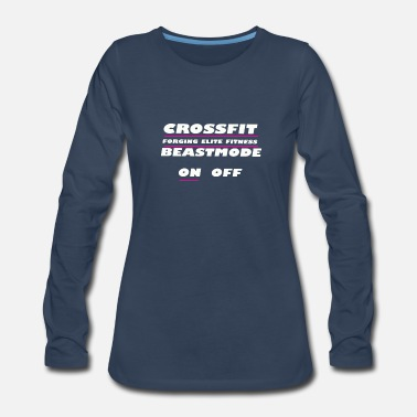 Witty Crossfit. Forging elite fitness on off - Women's Premium Long Sleeve T-Shirt
