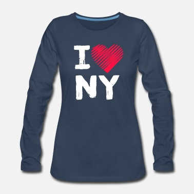 I Love New York I Love New York Tourist Gift - Women's Premium Longsleeve Shirt