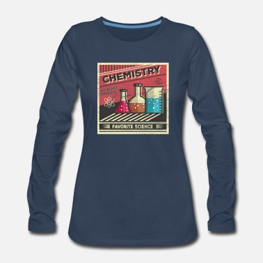 Microscope chemistry science student laboratory teacher gift - Women's Premium Long Sleeve T-Shirt