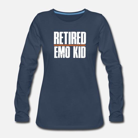 b9458cece Women's Premium Longsleeve ShirtRetired Emo Kid T Shirt Funny Emo Shirts